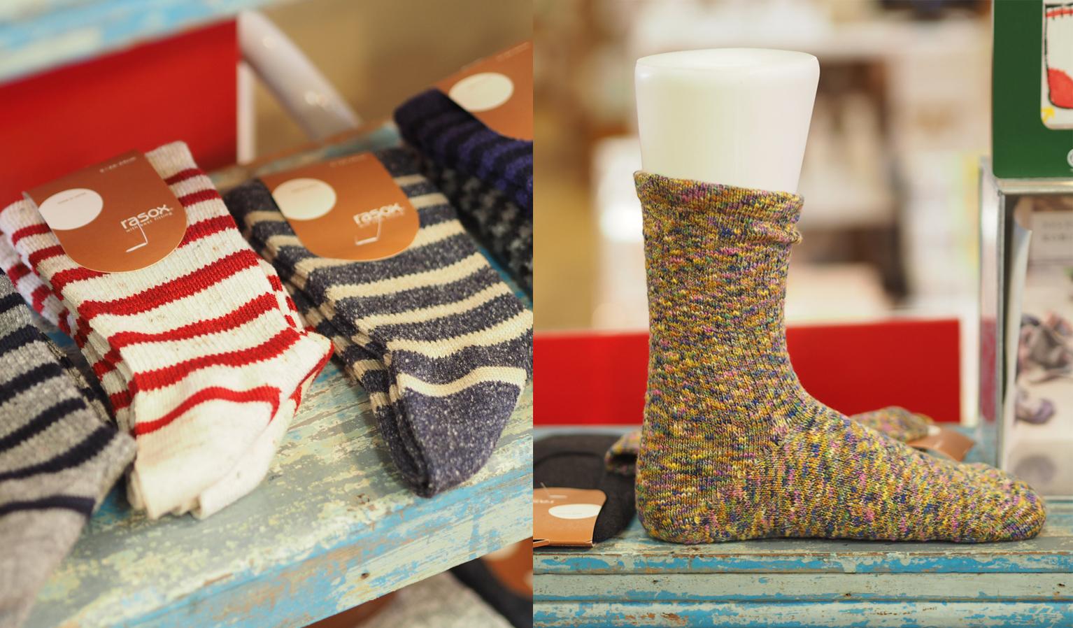 東京かんかん「TANA BANA」L字型靴下「rasox」が入荷しましたオズ新下関店 イメージ