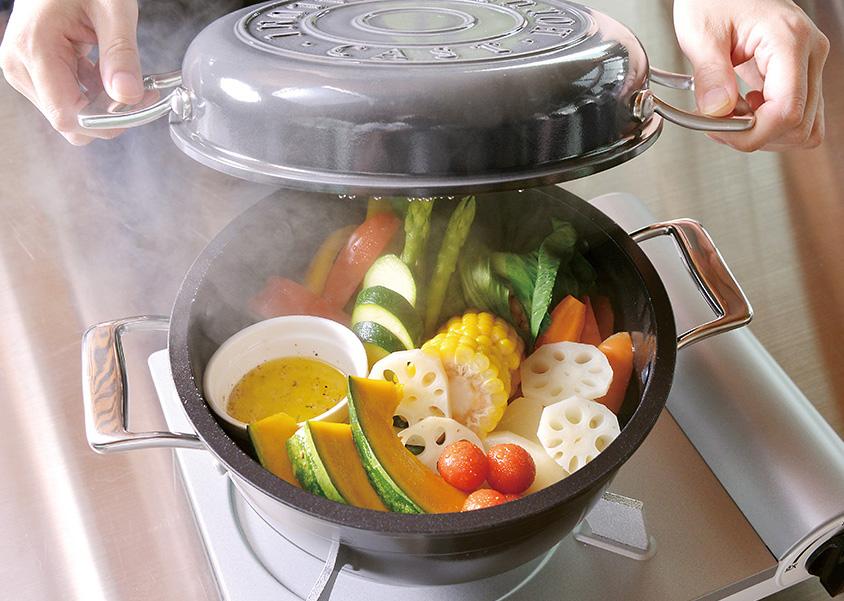 さらに進化した無水調理軽い!早い!HAMON琺瑯鍋