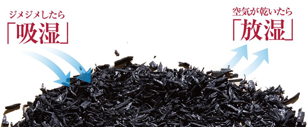 半永久的に続く調湿カビや臭いにサヨナラ「炭八」