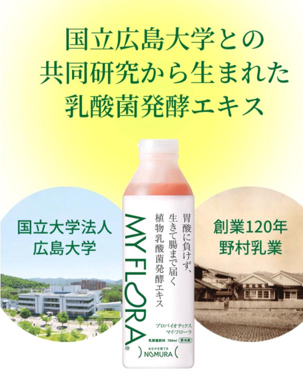 キレイな腸内フローラで健康に植物乳酸菌発酵飲料 マイ・フローラ