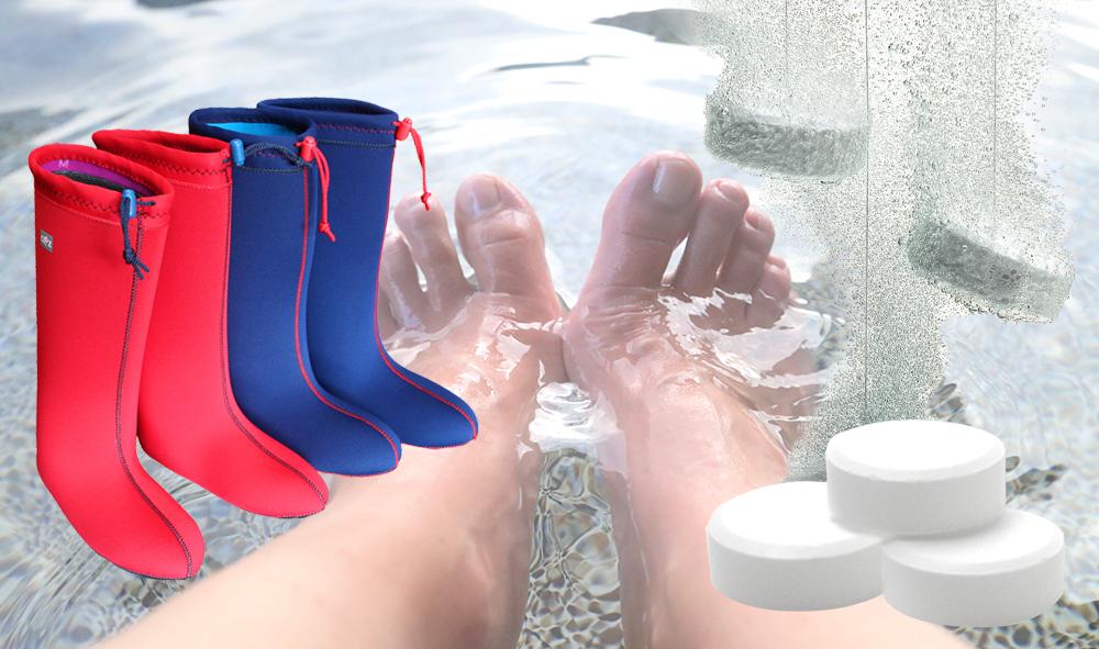 画期的!いつでもどこでも足湯重炭酸足湯ブーツ イメージ