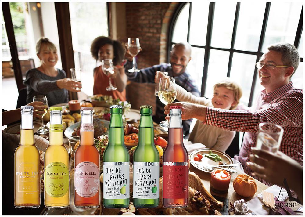フランスの果樹園で作られるアルコール0%スパークリング イメージ