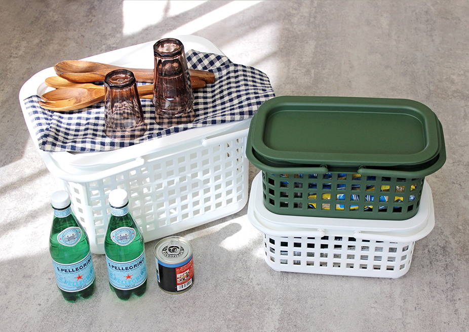 ピクニックに行きたくなるCESTINO BASKET&COVERCHIO