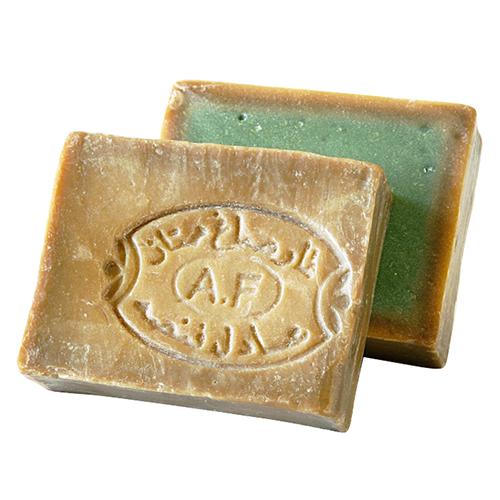 髪からつま先まで全身洗えるアレッポの石鹸